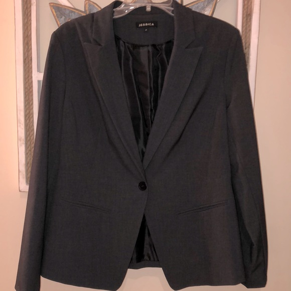 BOGO FREE  Jessica gray collar blazer lined 14